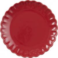 Mynte frokost tallerken rød