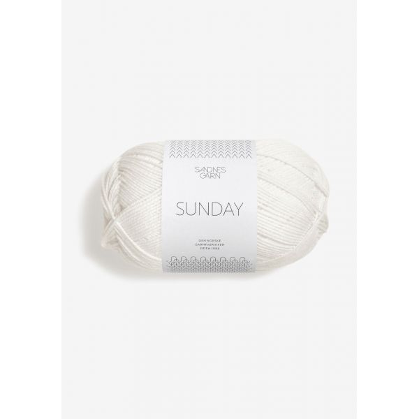 Sunday 1001 Hvit - Sandnes Garn