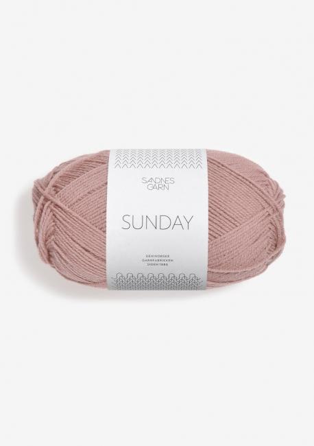 Sunday 4332 Støvet Rose - Sandnes Garn