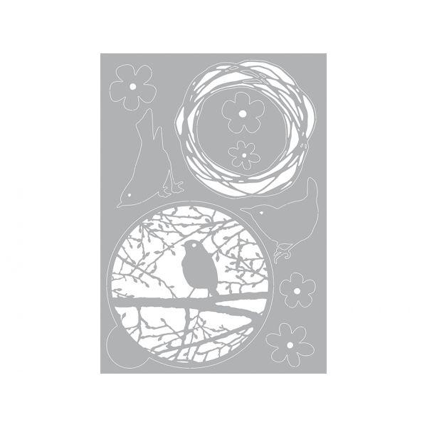 Pronty Gel Stencil A4 – Bird