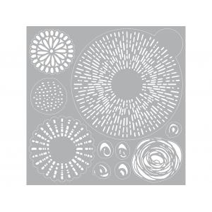 Pronty Gel Stencil 30×30 – Line + Dot
