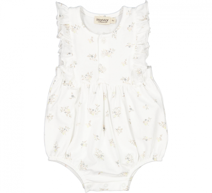 MARMAR - ROMA FRILL MODAL SMOOTH ROMPER ROSE BOUQUET
