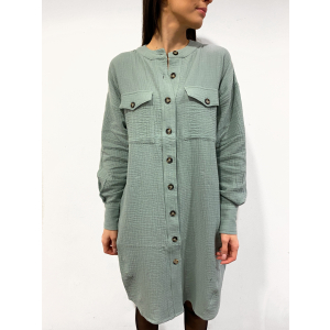 Jeff Shirt Dress - Chinois Green