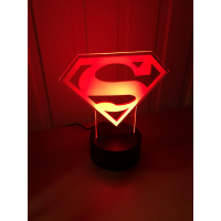 3D Lampe - Superman logo