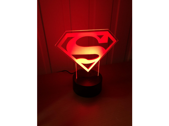 3D Lampe - Superman logo
