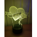3D Lampe - Blomst med hjerte og best girl ever