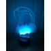 3D Lampe - Ørn