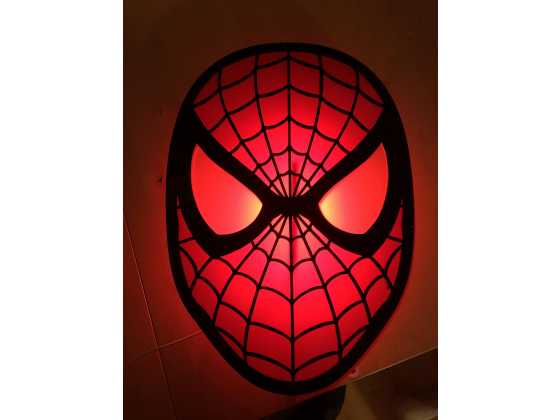 Vegglampe Spiderman