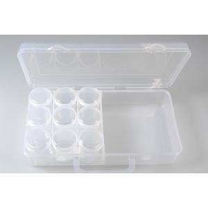 Plastskrin 2 rom /9 runde bokser