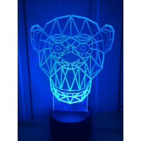 3D Lampe - Apekatt