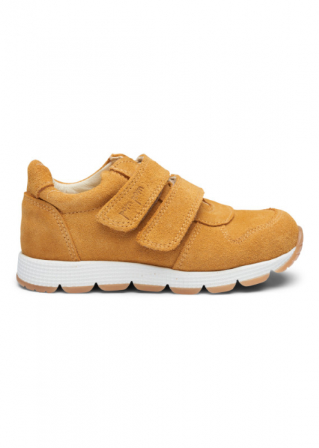 POM POM - RUNNERS VELCRO SHOE LIGHT MUSTARD SUEDE