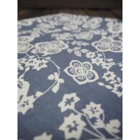 Putetrekk blått blomstrete