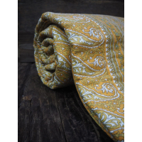 Quilt paisley gul/ blomstertriper
