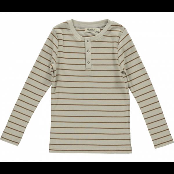 Genser - Trevor Modal Smooth Rib - Leather Stripe