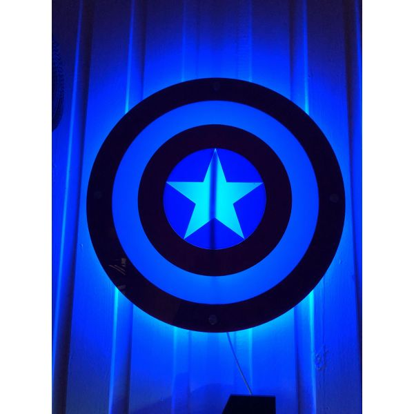 Vegglampe Captain america