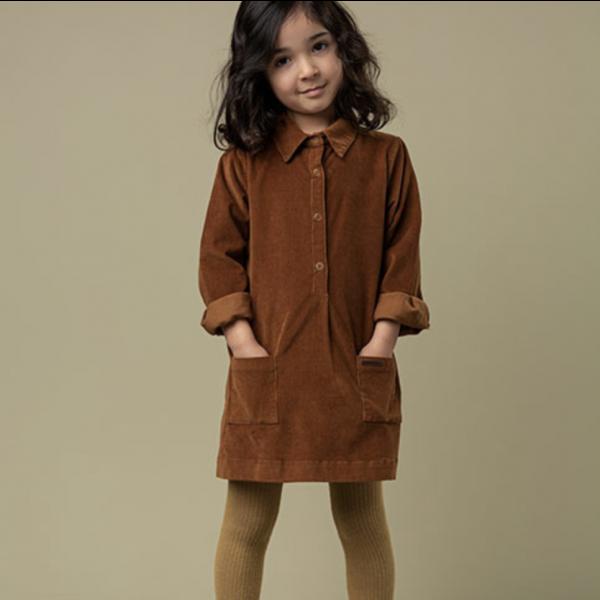 Dione Stretch Cord Dress Leather