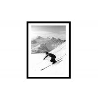fotokunst Downhill parallel turn