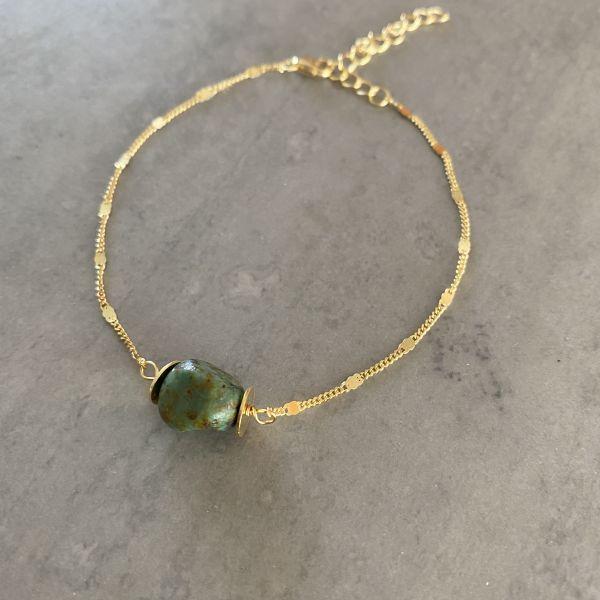 Mathilde Smaragd Armbånd