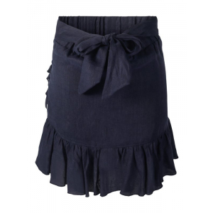 Julli Linen Skirt Navy