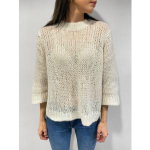 Harvest Knit O-Neck - Sandshell