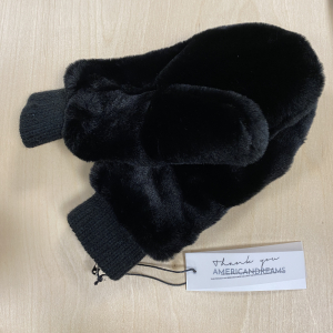 Ted Faux Gloves Black