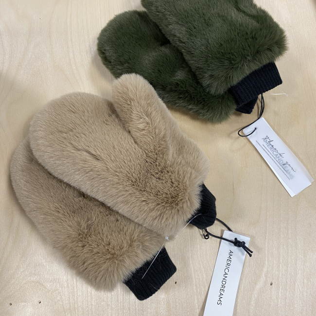 Ted Faux Gloves Beige
