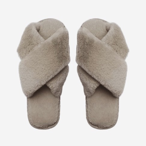Lou Slippers Taupe