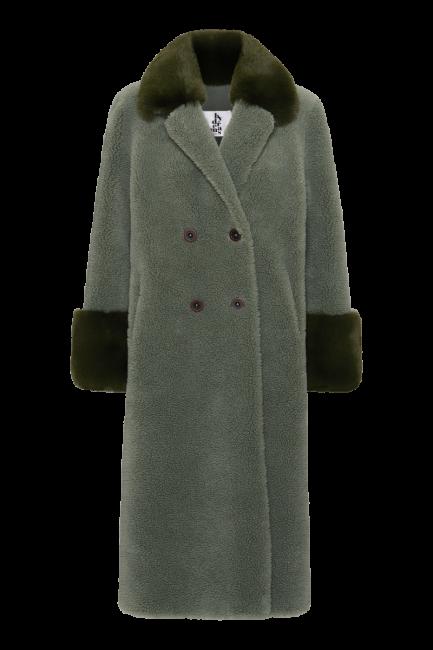Fiona Faux Fur Green Long