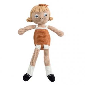 Sebra Heklet dukke - Camille