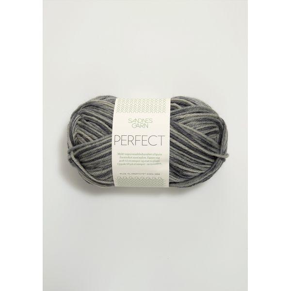 Perfect 2100 Grå print - Sandnes Garn