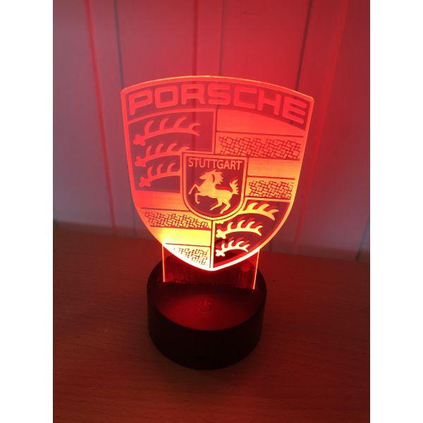 3D Lampe - Bilmerke Porche