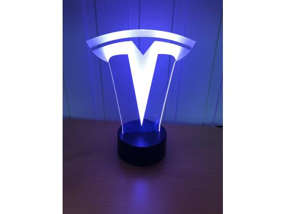 3D Lampe - Bilmerke Tesla