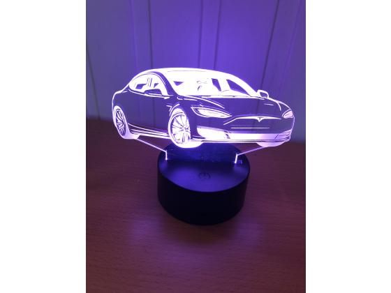 3D Lampe - Bilfigur Tesla