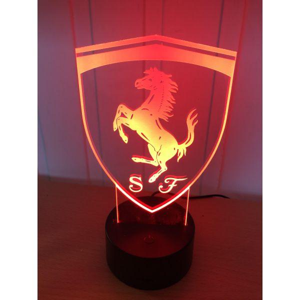 3D Lampe - Bilmerke Ferrari