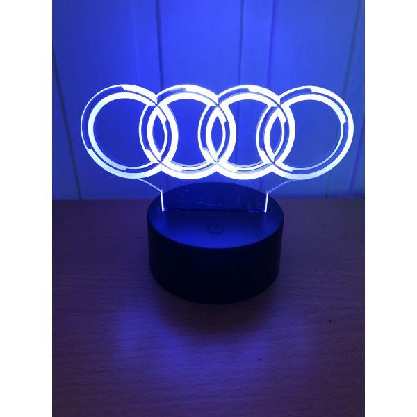 3D Lampe - Bilmerke Audi