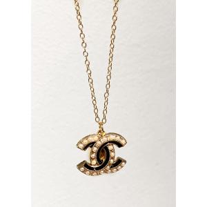 Chanel - White perle & Black/Gold