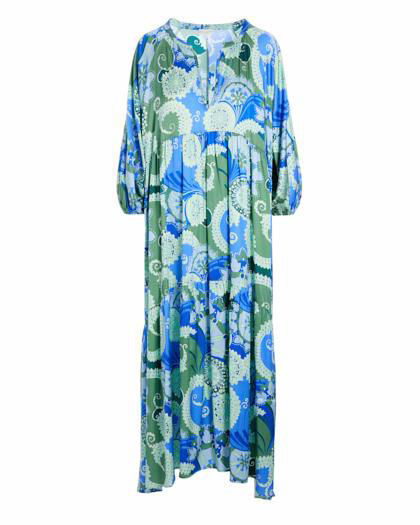 Harper Dress Khanga Green