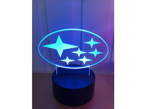 3D Lampe - Bilmerke Subaru