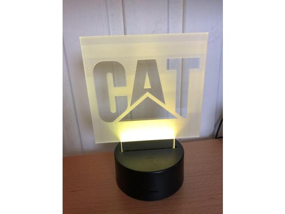 3D Lampe - Bilmerke CAT