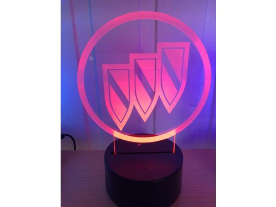 3D Lampe - Bilmerke Buick
