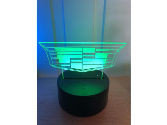 3D Lampe - Bilmerke Cadillac