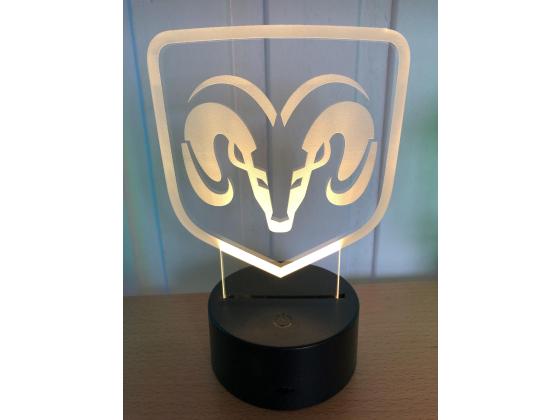 3D Lampe - Bilmerke Dodge