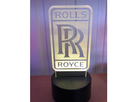 3D Lampe - Bilmerke Rolls Royce