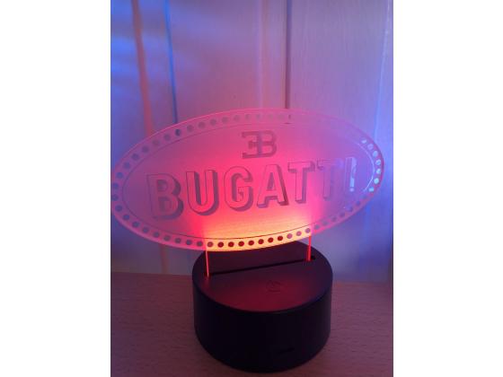 3D Lampe - Bilmerke Bugatti