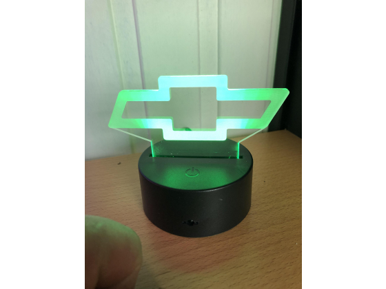 3D Lampe - Bilmerke Chevrolet