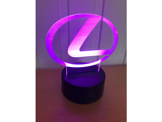 3D Lampe - Bilmerke Lexus