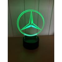 3D Lampe - Bilmerke Mercedes Benz