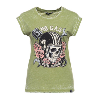 QUEEN KEROSIN NO GAS NO GLORY T-SHIRT OLIVE