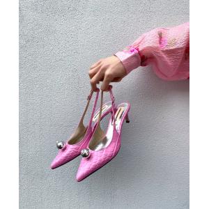 Alima Croco - Fuchsia Pink