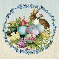 Easter egg wreath lunsj